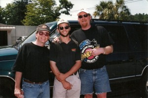 Clif and John Boy ans Billy at Darlington sometime in the late 90s.