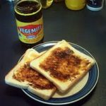 Vegemite on toast with butter